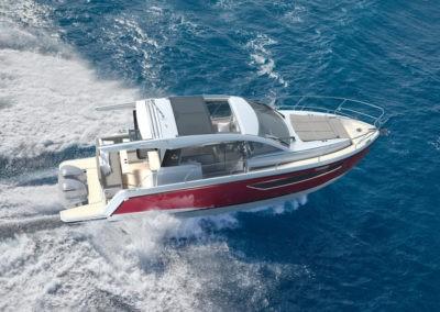 Sealine C430 vor der Küste von Sanremo.